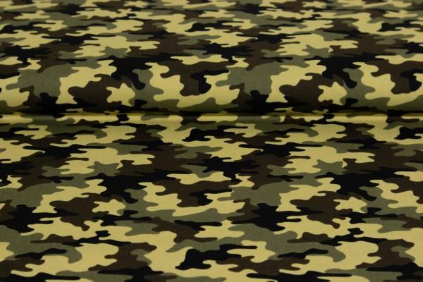 Baumwoll Poplin Camouflage