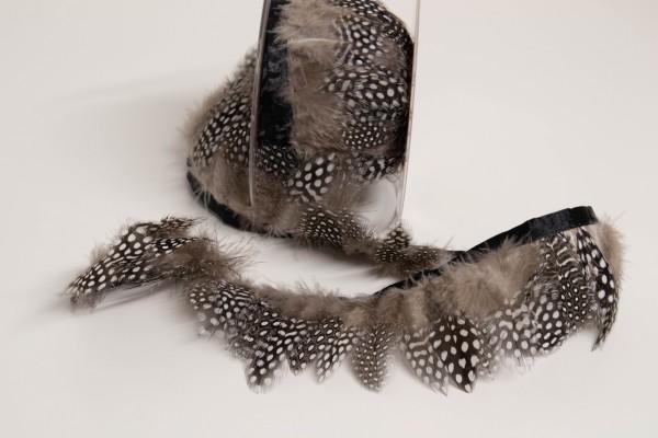 Feather Fringe - Federborte Taupe