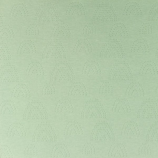 Jersey Feinstrick Ajour Regenbogen Mint