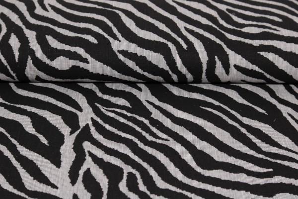Baumwoll Leinen Print Zebra