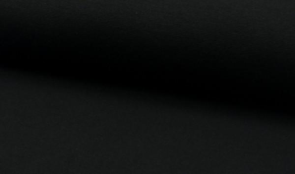 Bündchen glatt Schwarz